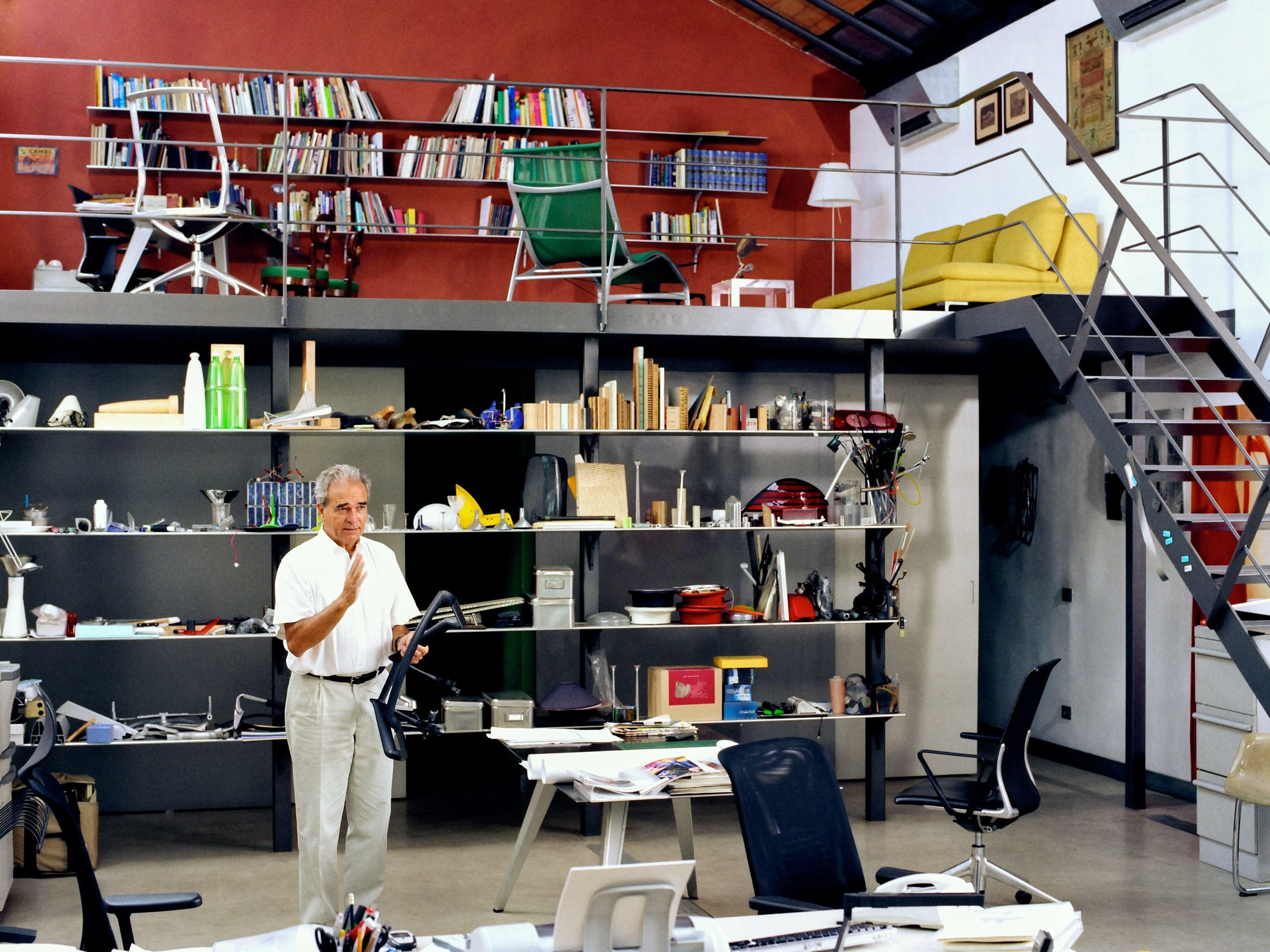 Alberto Meda, designer – photographed for 'Vitra Growing a Chair' in his studio in Milan
