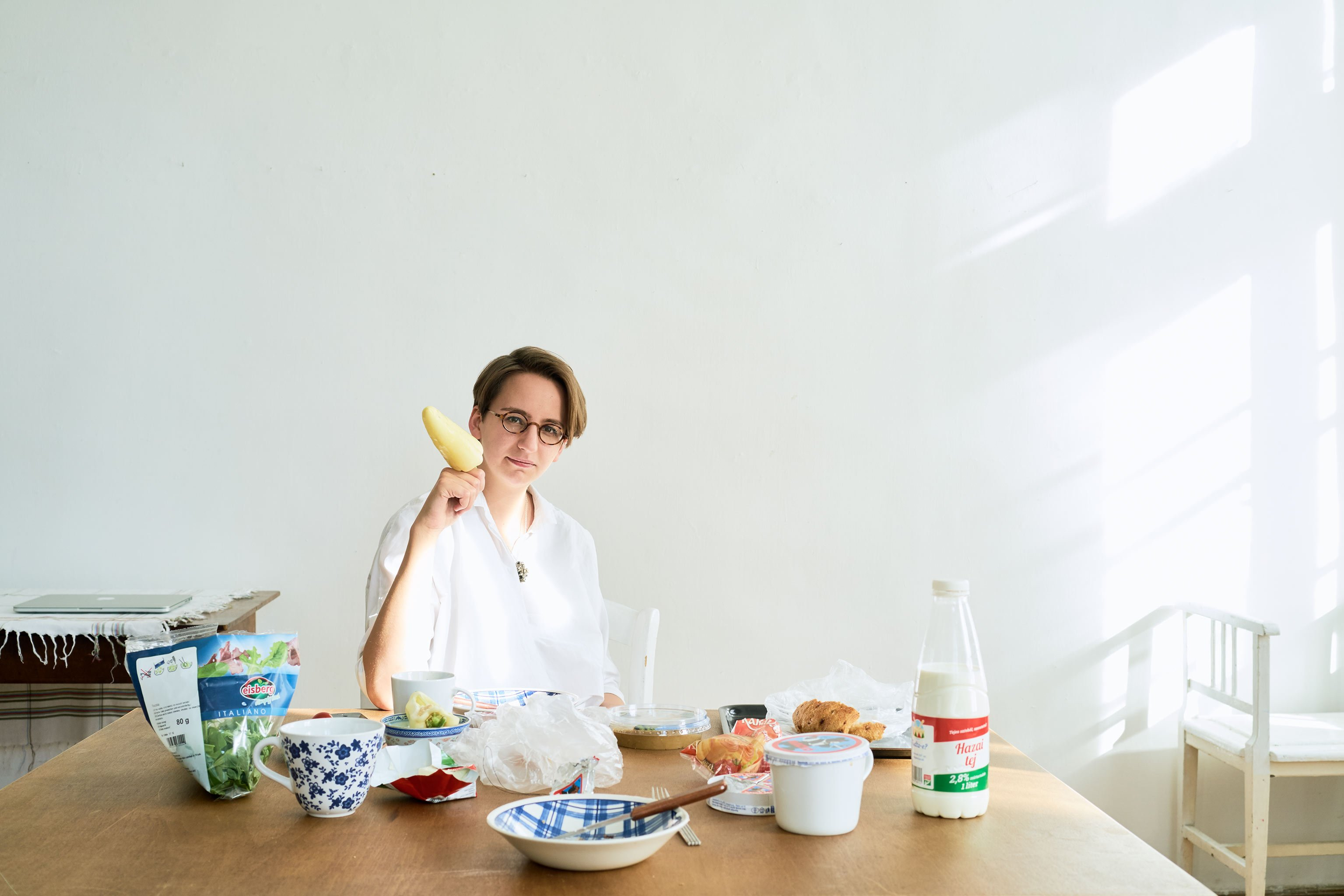 Borbála Soós, curator – photographed in Budapest in preparation for OFF Biennale