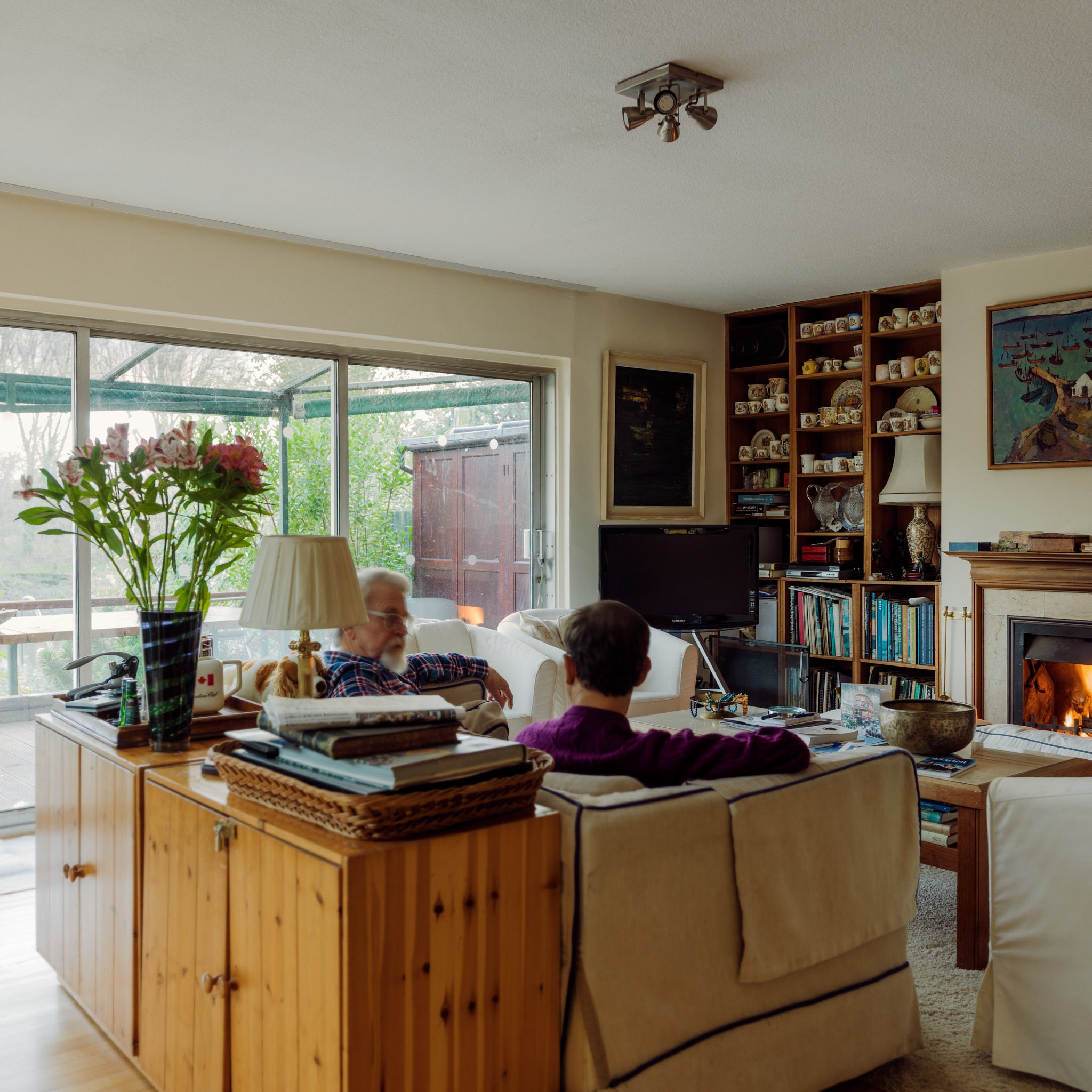 Daniel and Edward at home in Twickenham – photographed for Project Living Abroad