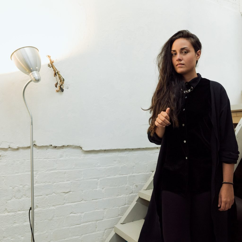 Stella – curator – photographed at home in East London for Project Living Abroad