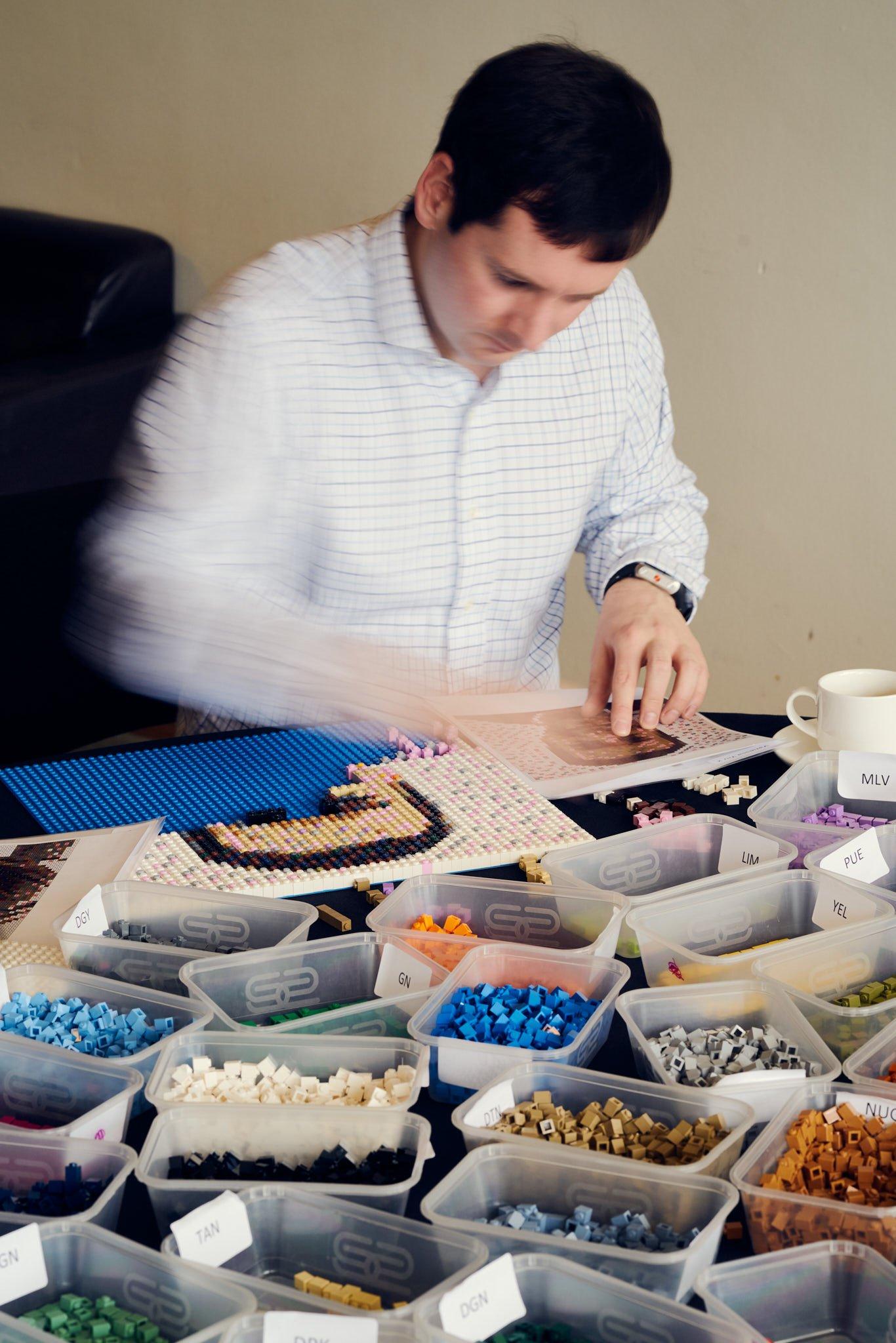 LEGO: Build a Mosaic, at South Bank Centre, London