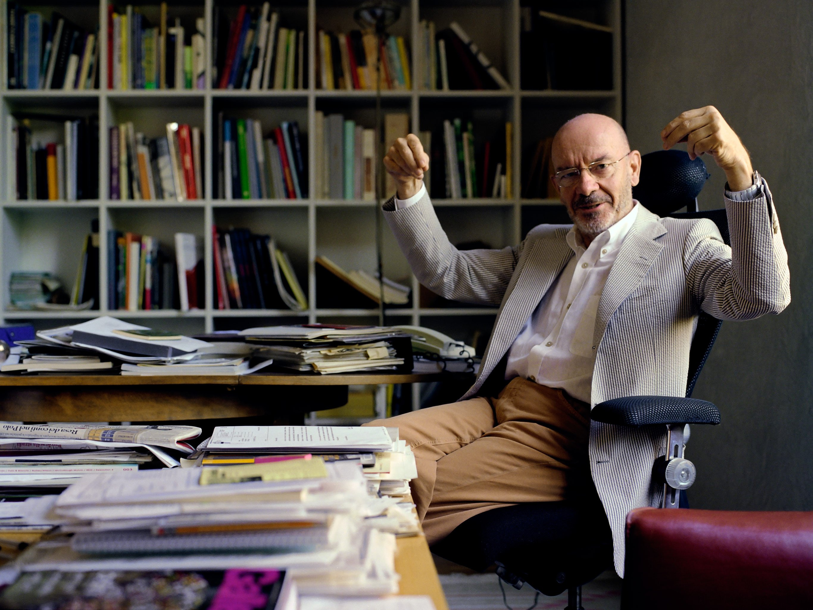 Mario Bellini, architect and designer – photographed for 'Vitra Growing a Chair' at his office in Milan
