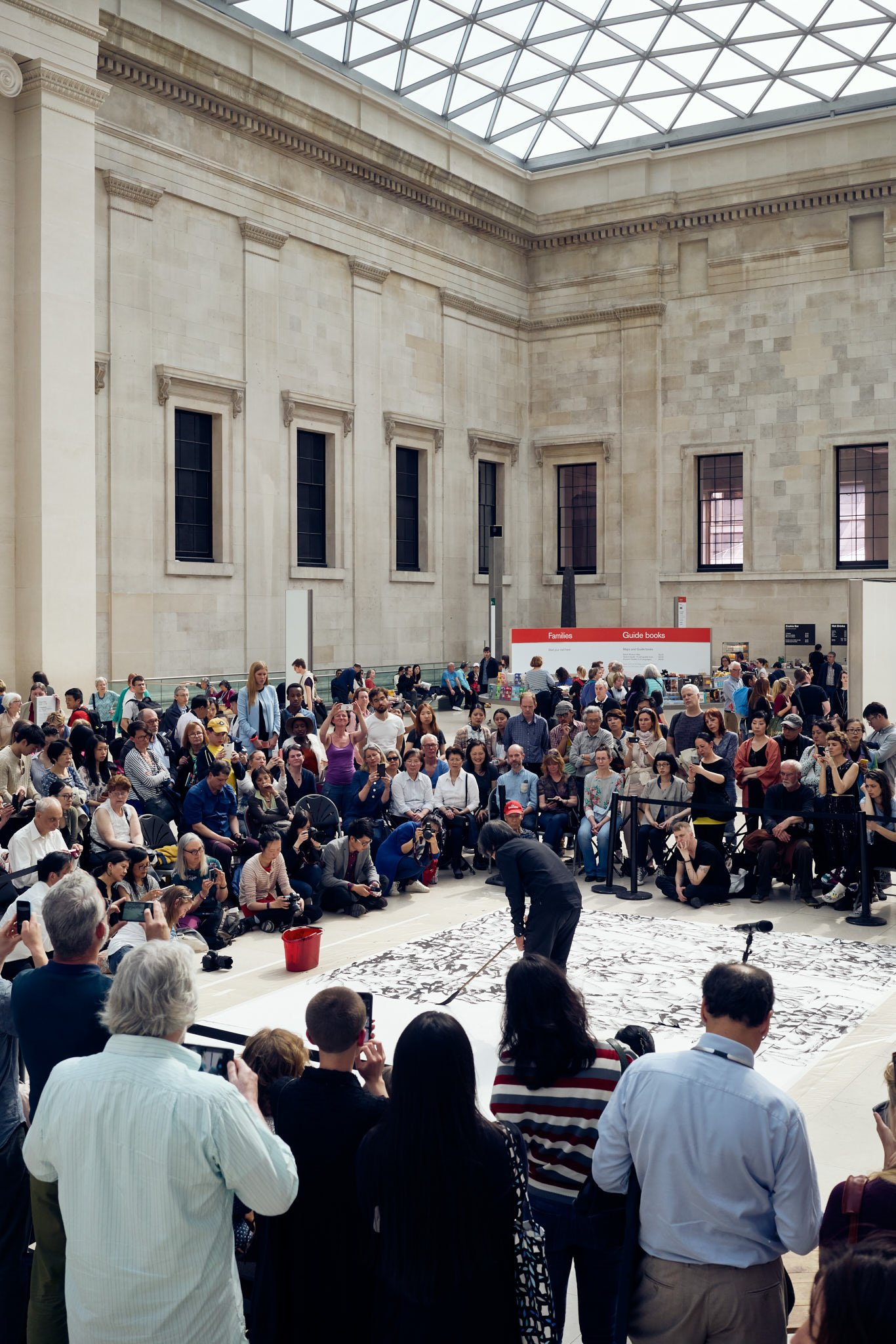 Calligraphy live performance at the British Museum