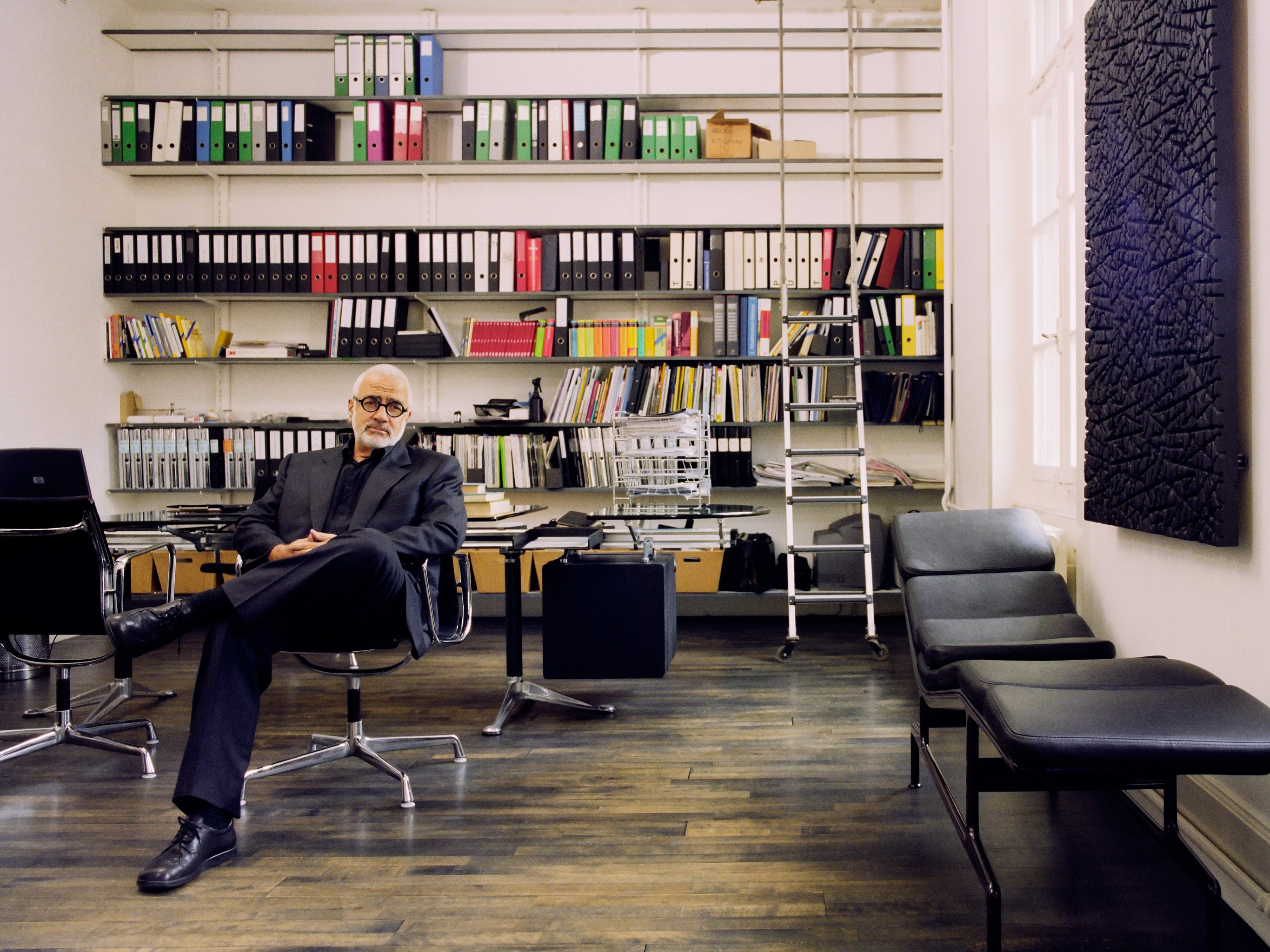 Werner Kieser, entrepreneur – photographed for 'Vitra Growing a Chair' at his office in Zurich